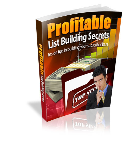 Product picture Profitable List Building Secrets
